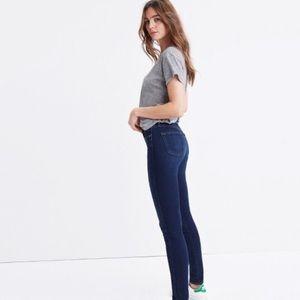 Madewell Mid Rise Skinny Jeans Dark Wash